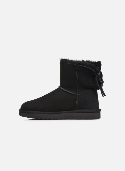 Bottines et boots UGG Classic Double Bow Mini Noir vue face