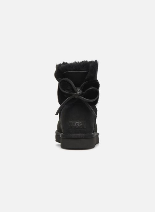 Bottines et boots UGG Classic Double Bow Mini Noir vue droite