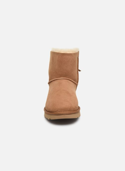 Stiefeletten & Boots UGG Classic Double Bow Mini braun schuhe getragen