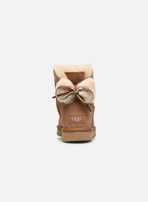 Bottines et boots UGG Classic Double Bow Mini Marron vue droite