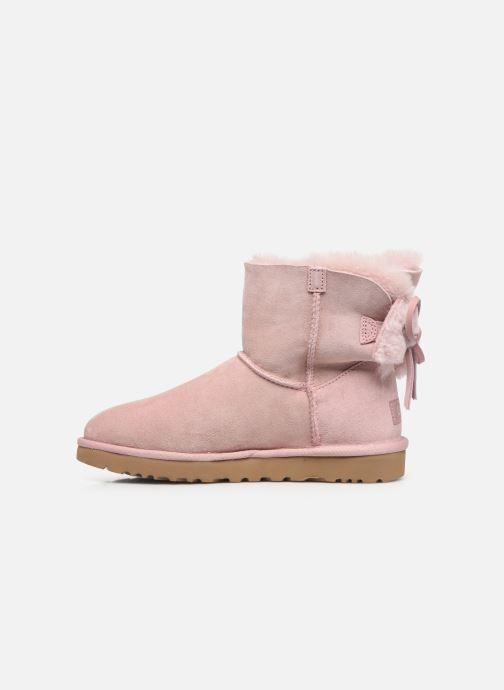 Stiefeletten & Boots UGG Classic Double Bow Mini rosa ansicht von vorne