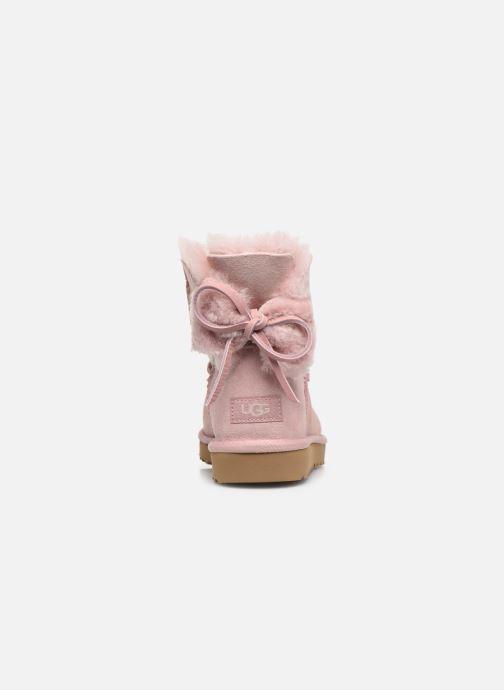 Stiefeletten & Boots UGG Classic Double Bow Mini rosa ansicht von rechts