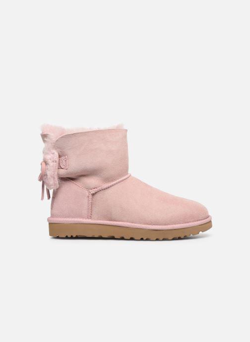 Stiefeletten & Boots UGG Classic Double Bow Mini rosa ansicht von hinten