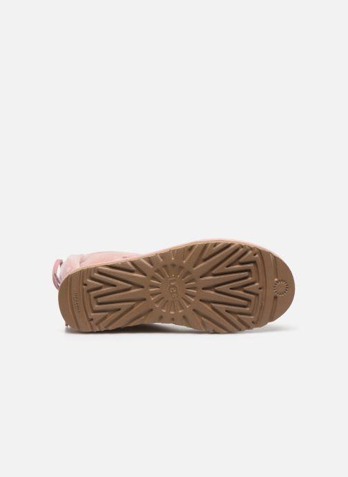 Stiefeletten & Boots UGG Classic Double Bow Mini rosa ansicht von oben