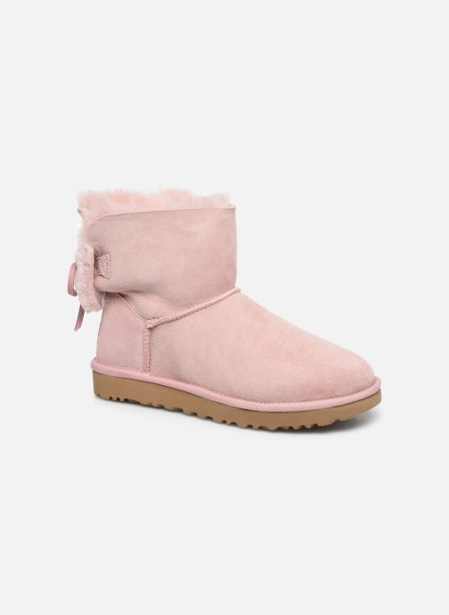 Stiefeletten & Boots UGG Classic Double Bow Mini rosa detaillierte ansicht/modell