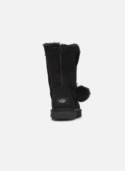 Bottes UGG Classic Short Charms Noir vue droite