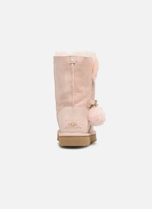 Bottes UGG Classic Short Charms Rose vue droite