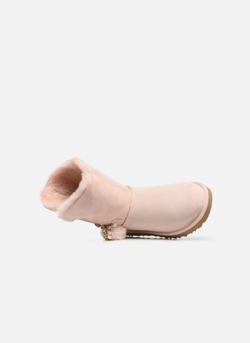 Bottes UGG Classic Short Charms Rose vue gauche