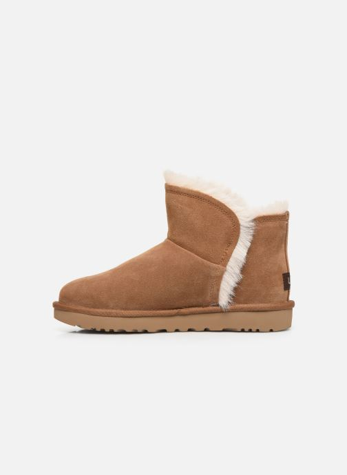 Bottines et boots UGG Classic Mini Fluff High-Low Marron vue face