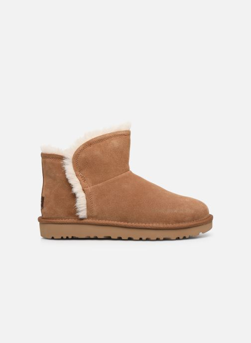 Bottines et boots UGG Classic Mini Fluff High-Low Marron vue derrière