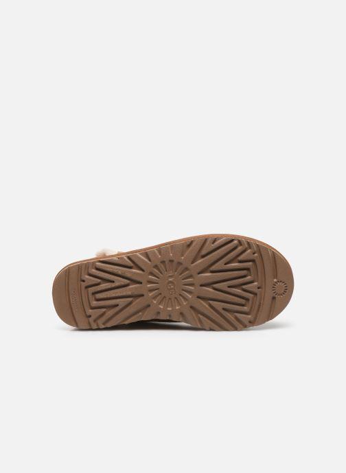 Bottines et boots UGG Classic Mini Fluff High-Low Marron vue haut