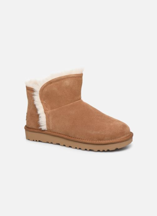 Bottines et boots UGG Classic Mini Fluff High-Low Marron vue détail/paire