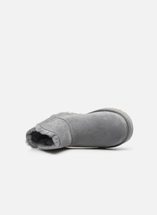 Bottines et boots UGG Classic Mini Fluff High-Low Gris vue gauche