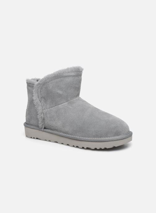 Bottines et boots UGG Classic Mini Fluff High-Low Gris vue détail/paire