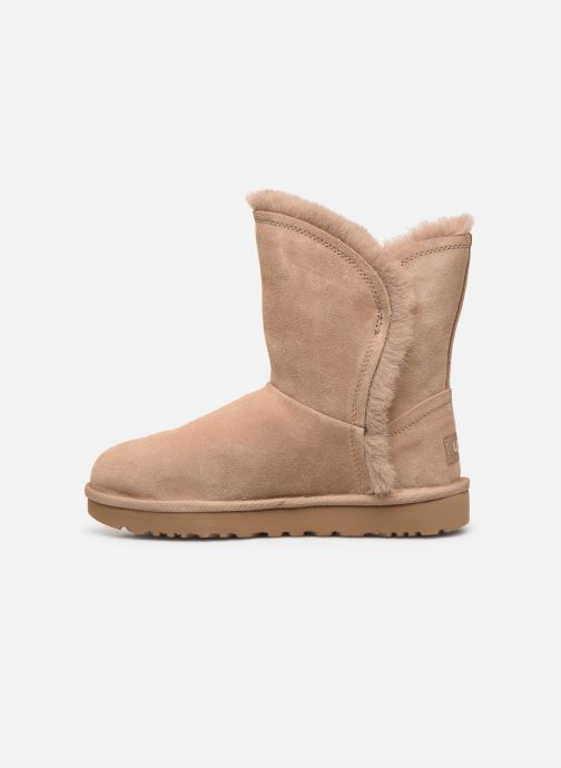 Bottines et boots UGG Classic Short Fluff High-Low Beige vue face
