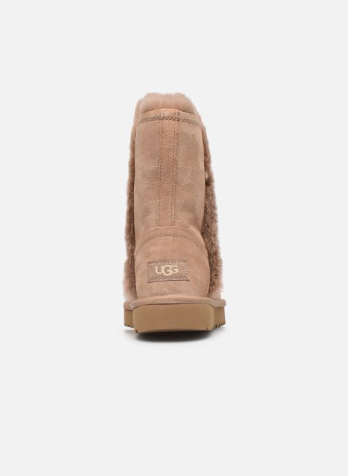 Botines  UGG Classic Short Fluff High-Low Beige vista lateral derecha