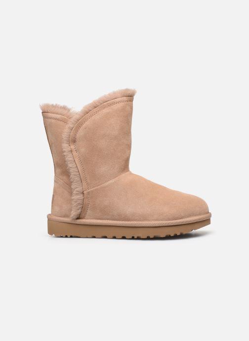 Bottines et boots UGG Classic Short Fluff High-Low Beige vue derrière