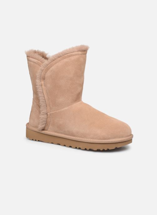 Bottines et boots UGG Classic Short Fluff High-Low Beige vue détail/paire