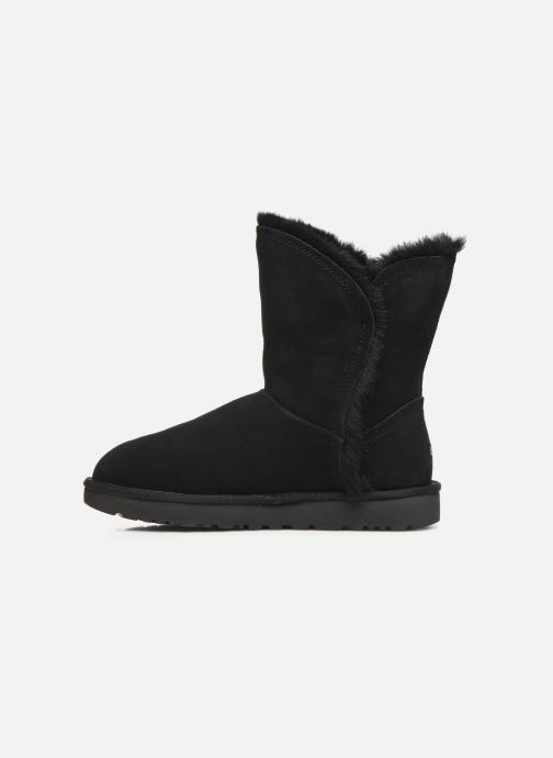Bottines et boots UGG Classic Short Fluff High-Low Noir vue face