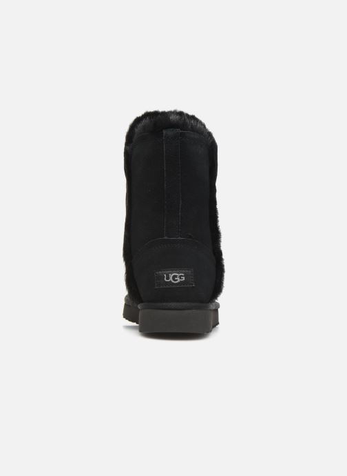 Bottines et boots UGG Classic Short Fluff High-Low Noir vue droite