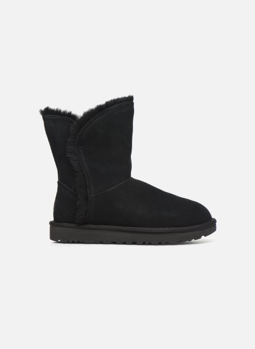 Botines  UGG Classic Short Fluff High-Low Negro vistra trasera