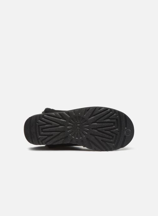 Bottines et boots UGG Classic Short Fluff High-Low Noir vue haut