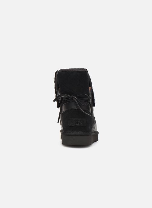 Stiefeletten & Boots UGG Classic Leopard Lined Bow schwarz ansicht von rechts