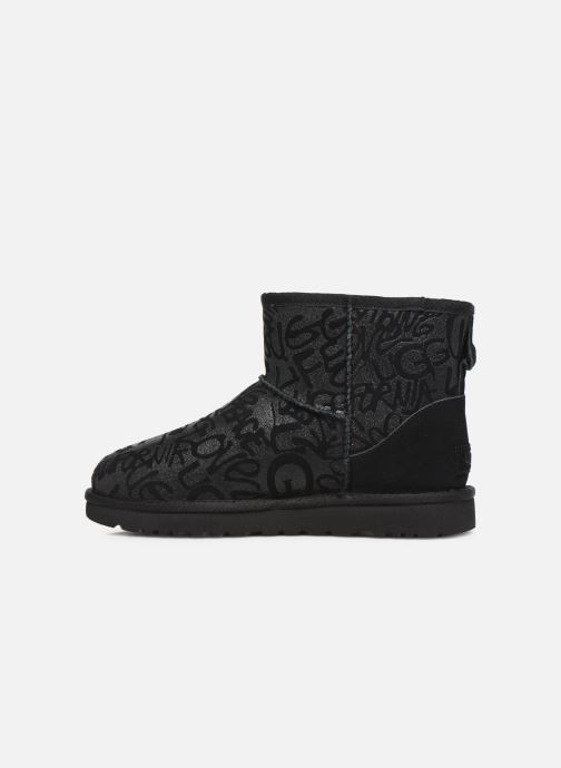 Bottines et boots UGG Classic Mini Sparkle Graffiti Noir vue face