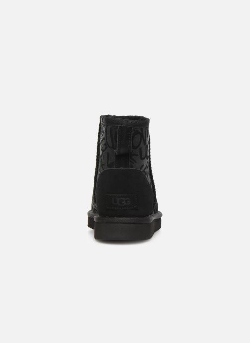 Bottines et boots UGG Classic Mini Sparkle Graffiti Noir vue droite