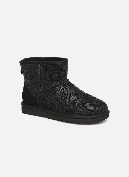 Bottines et boots UGG Classic Mini Sparkle Graffiti Noir vue détail/paire