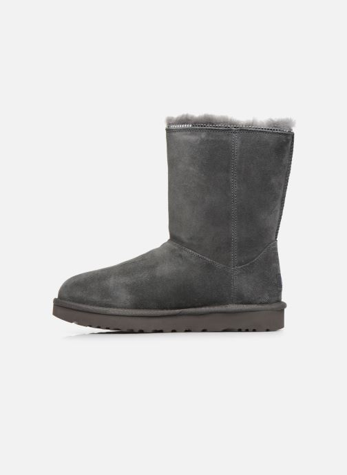 Bottines et boots UGG Classic Zip Boot Gris vue face