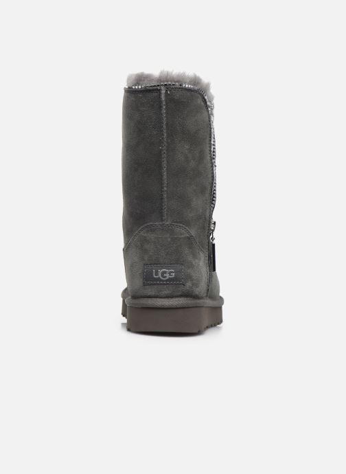 Botines  UGG Classic Zip Boot Gris vista lateral derecha