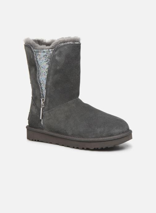 Bottines et boots UGG Classic Zip Boot Gris vue détail/paire