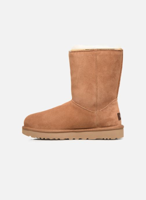 Botines  UGG Classic Zip Boot Marrón vista de frente
