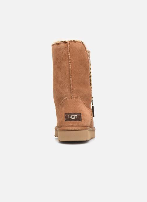 Botines  UGG Classic Zip Boot Marrón vista lateral derecha