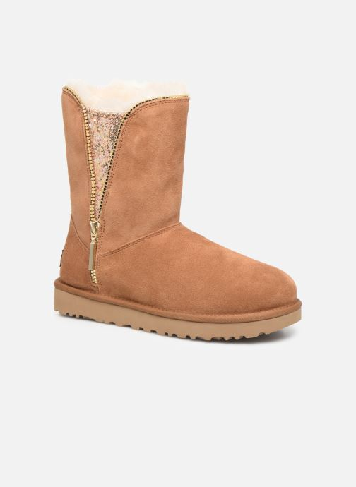 Bottines et boots UGG Classic Zip Boot Marron vue détail/paire