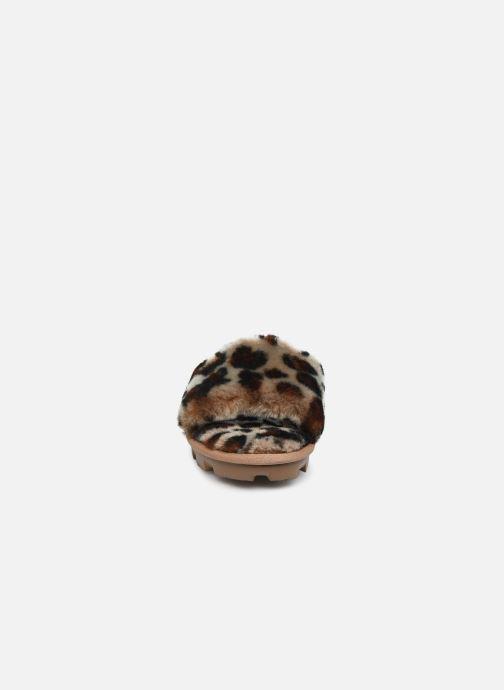 Hausschuhe UGG Cozette Leopard braun schuhe getragen
