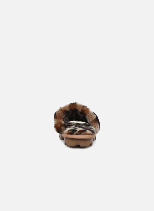 Pantoffels UGG Cozette Leopard Bruin rechts