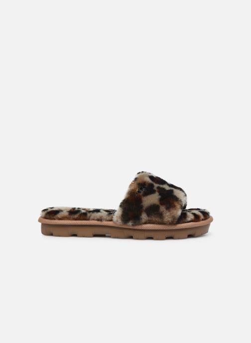 Pantuflas UGG Cozette Leopard Marrón vistra trasera