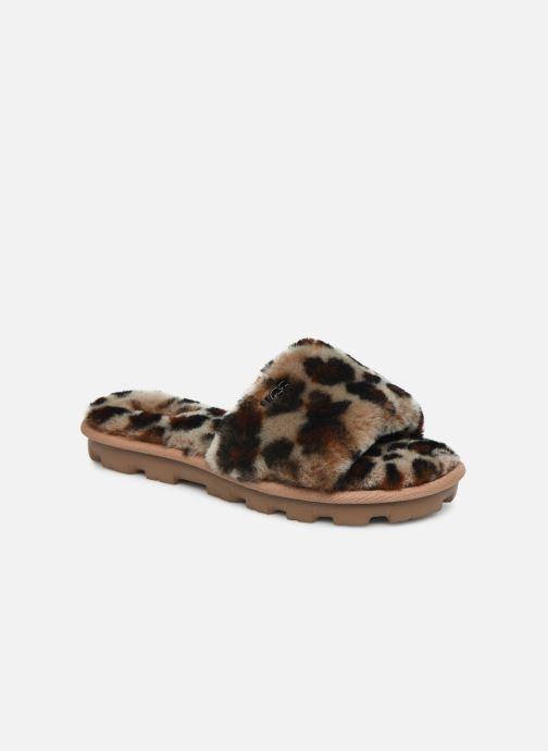 Chaussons UGG Cozette Leopard Marron vue détail/paire