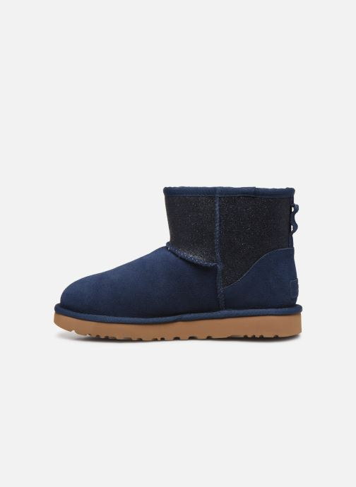 Bottines et boots UGG Classic Mini Ugg Sparkle Bleu vue face