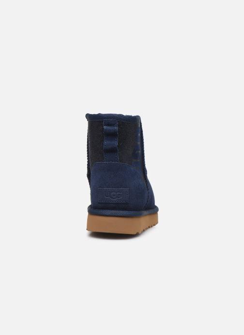 Bottines et boots UGG Classic Mini Ugg Sparkle Bleu vue droite