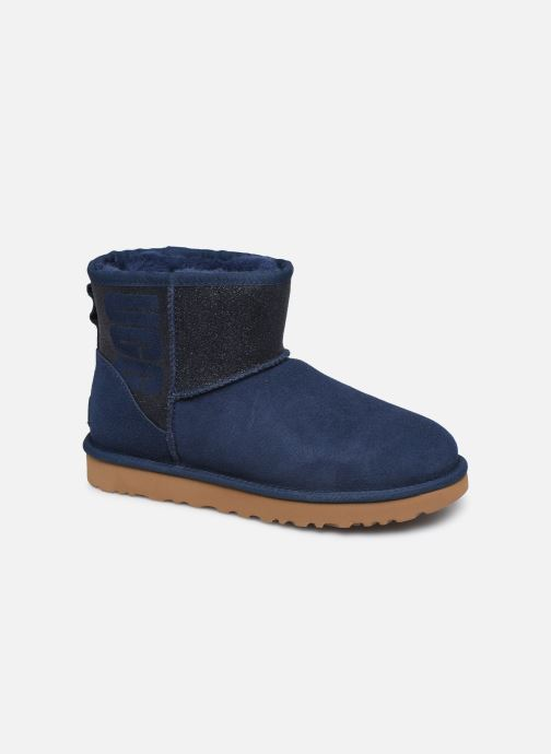 Bottines et boots UGG Classic Mini Ugg Sparkle Bleu vue détail/paire