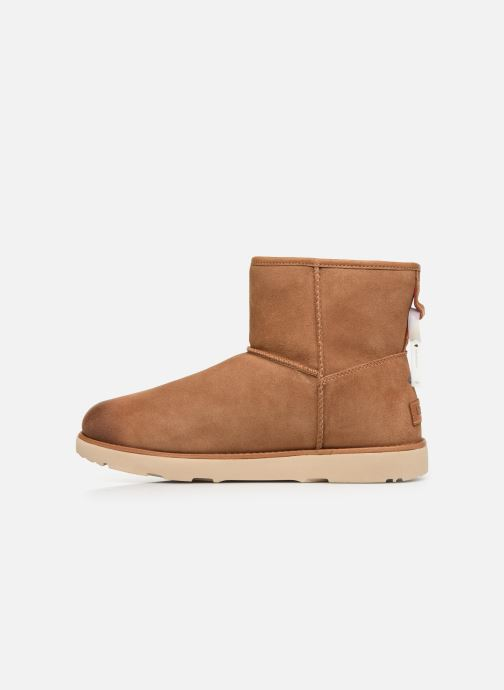 Botas UGG Classic Mini Zip Waterproof Marrón vista de frente
