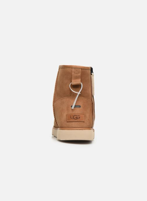 Bottes UGG Classic Mini Zip Waterproof Marron vue droite