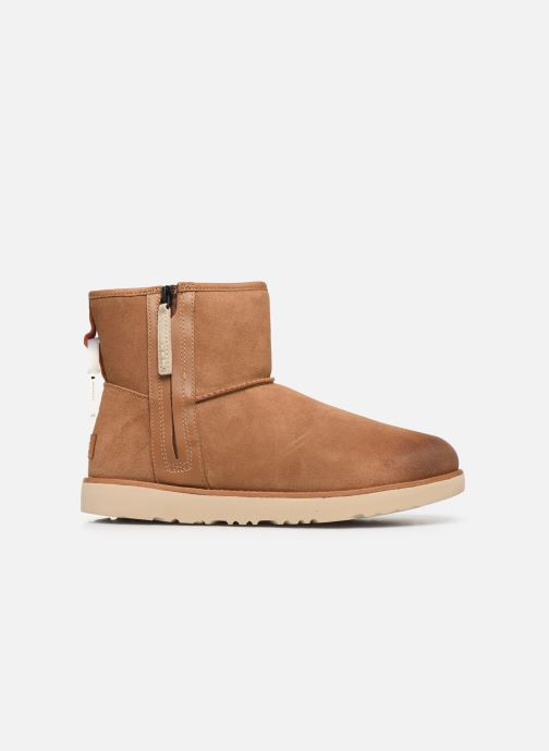 Botas UGG Classic Mini Zip Waterproof Marrón vistra trasera