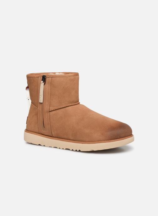 Botas UGG Classic Mini Zip Waterproof Marrón vista de detalle / par