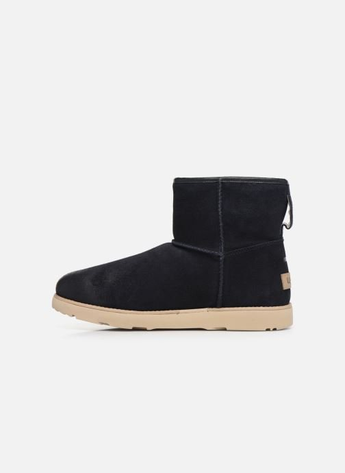 Botas UGG Classic Mini Zip Waterproof Azul vista de frente