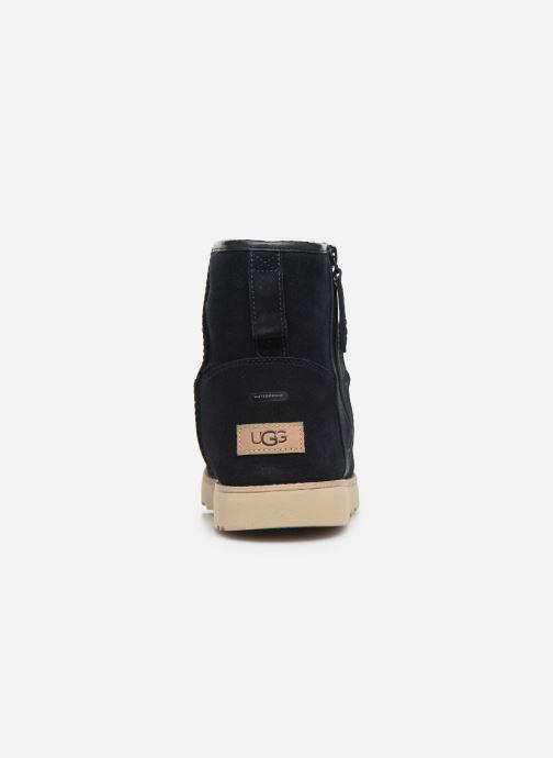 Botas UGG Classic Mini Zip Waterproof Azul vista lateral derecha