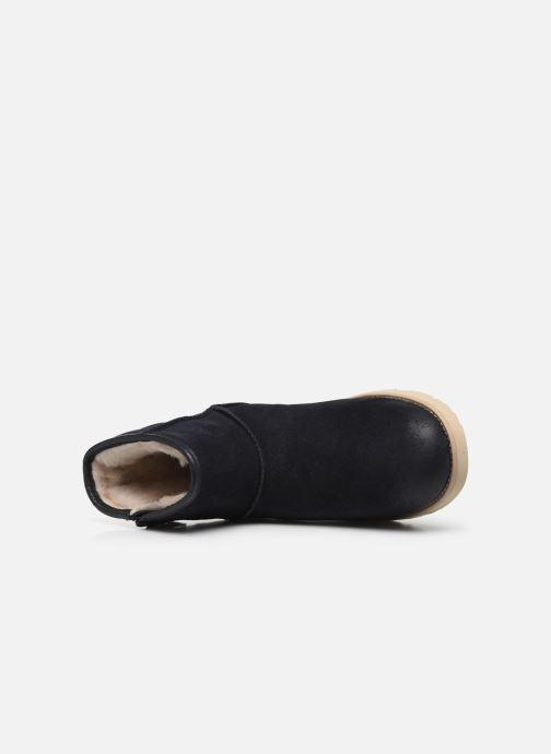Stiefel UGG Classic Mini Zip Waterproof blau ansicht von links